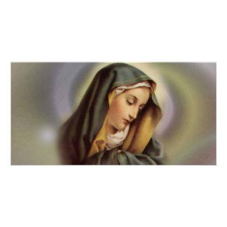 Carte photo de Vierge Marie 2 Photocarte Personnalisée