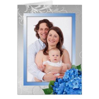Carte photo d'hortensia du jour de mère pour la