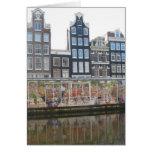Carte photo du marché de fleur d'Amsterdam (Bloeme