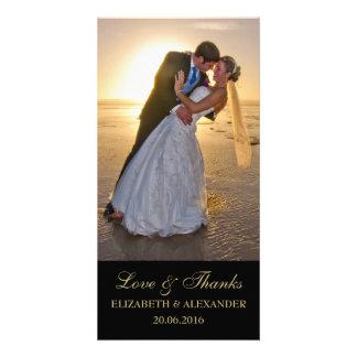 Carte photo élégant de Merci de mariage Cartes De Vœux Avec Photo