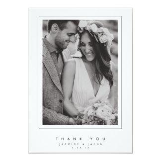 Carte photo élégant de Merci de mariage Carton D'invitation 12,7 Cm X 17,78 Cm