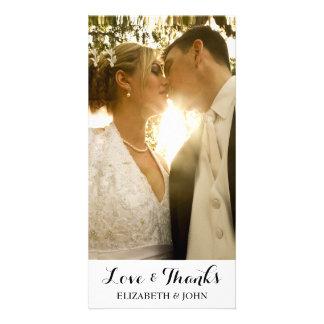 Carte photo élégant moderne de Merci de mariage Photocarte Personnalisée