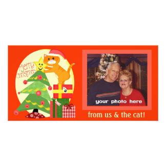 Carte photo fait sur commande de Noël d'amoureux d Cartes De Vœux Avec Photo