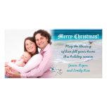 Carte photo fait sur commande de Noël de plage et Cartes Avec Photo