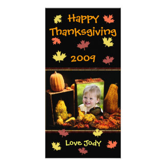 Carte photo fait sur commande de thanksgiving/vaca cartes de vœux avec photo