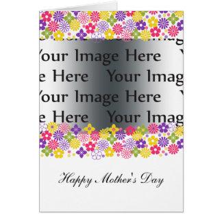 carte photo floral coloré du jour de mère