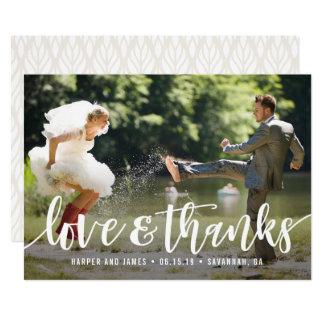 Carte photo génial de Merci de mariage de