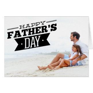 Carte photo heureux de fête des pères de