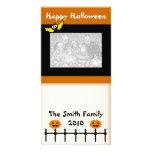 Carte photo heureux de salutations de Halloween Carte Avec Photo