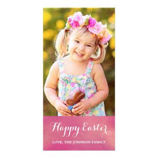 Carte photo heureux de verticale de Pâques Photocartes Personnalisées