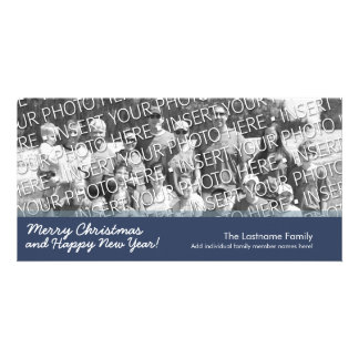 Carte photo : Joyeux Noël avec 1 grande photo Modèle Pour Photocarte