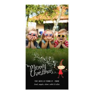 Carte photo magique lunatique de vacances d'Elf de Cartes Avec Photo