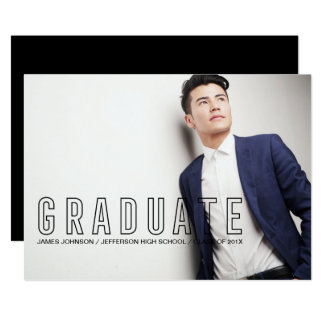 Carte Photo masculine d'obtention du diplôme de