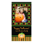 Carte photo mignon de Halloween de citrouille Photocarte Personnalisée