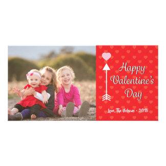 Carte photo mignon de heureuse Sainte-Valentin