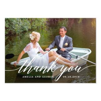 Carte photo moderne de Merci de mariage de
