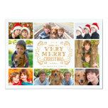 Carte photo moderne de vacances de collage de cartons d'invitation