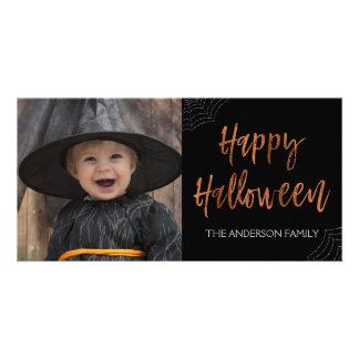 Carte photo moderne heureux de Halloween Halloween Carte