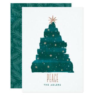 Carte photo Painterly de Noël d'arbre