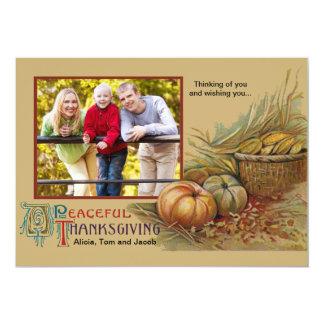 Carte photo paisible de thanksgiving invitations