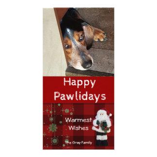 Carte Photo personnalisée | Pawlidays heureux Père Noël