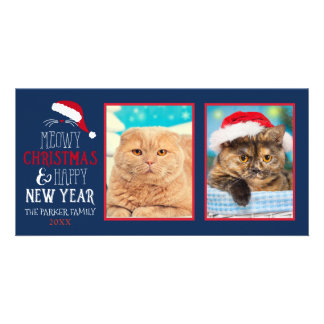 Carte Photo Photocard du chat 2 de Noël de Meowy