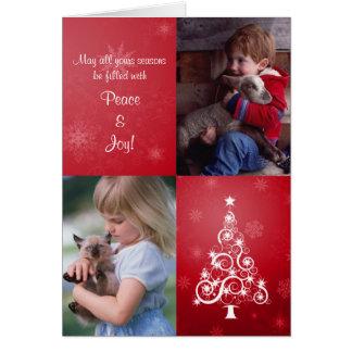 Carte photo plié par Noël lumineux