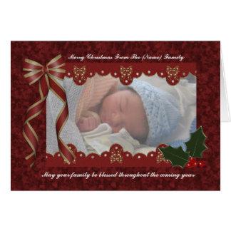 Carte photo religieux de Noël - Noël béni