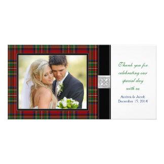 Carte photo royal de Merci de mariage de tartan de Photocartes Personnalisées
