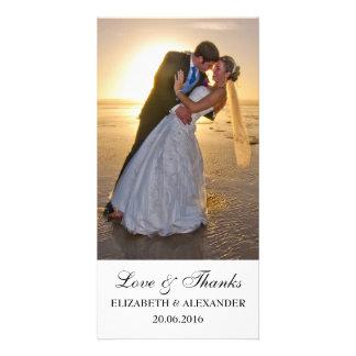 Carte photo simple de Merci de mariage Modèle Pour Photocarte
