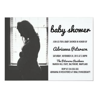 Carte Photo simple moderne de baby shower