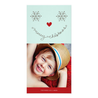 Carte photo souriant mignon de vacances de Joyeux Cartes De Vœux Avec Photo