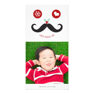 Carte photo souriant mignon de vacances de visage photocarte