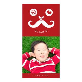 Carte photo souriant mignon de vacances de visage photocarte customisée