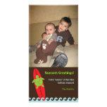 Carte photo surfant heureux 2 de Noël de Honu Photocarte Personnalisée