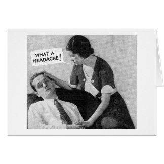 Carte photo vintage d'annonce - homme de mal de