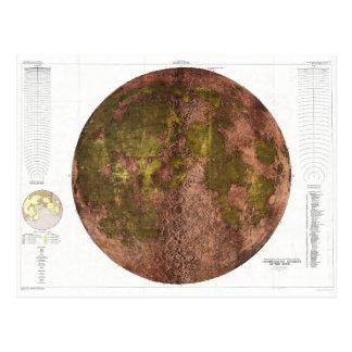 Carte physique de 1961 U.S.G.S. de la lune