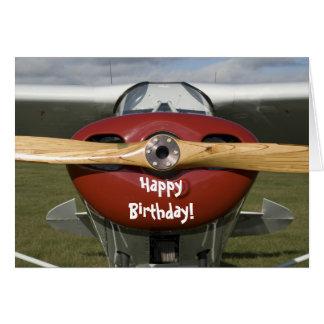 Carte pilote de joyeux anniversaire d avion