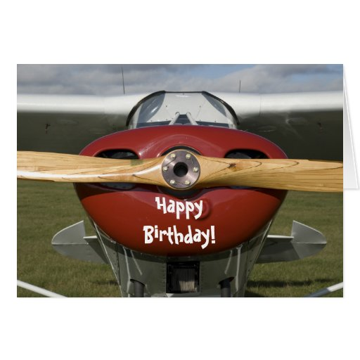 Carte pilote de joyeux anniversaire d'avion