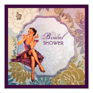 Carte Pin de cru vers le haut douche nuptiale de femme