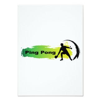 Carte Ping-pong unique