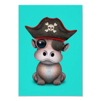 Carte Pirate mignon d'hippopotame de bébé