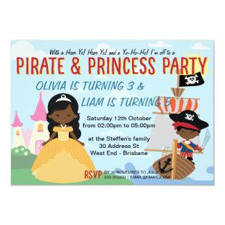 Carte Pirates et princesse afro-américains