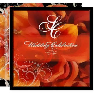 Carte PixDezines a brûlé le zantedeschia orange