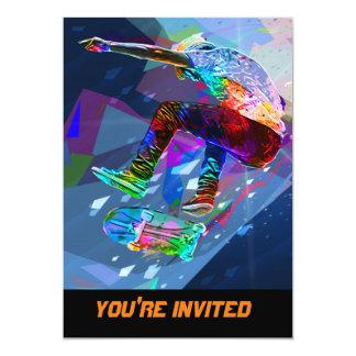 Carte Planchiste de silhouette coloré par crayon superbe