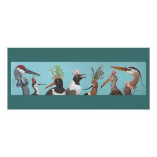 Carte plate d oiseaux d eau invitation personnalisable