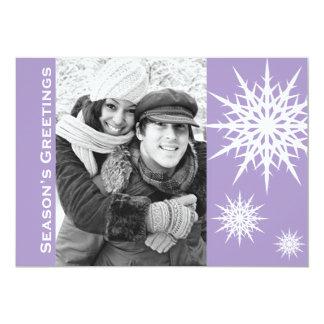 Carte plate de Bonnes Fêtes de vacances pourpres Carton D'invitation 12,7 Cm X 17,78 Cm