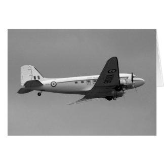 Carte plate de Douglas DC3 Dakota