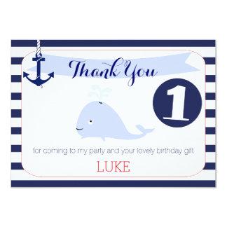 Carte plate de ęr Merci nautique d'anniversaire de