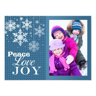Carte plate de grand de paix d'amour de joie Noël Carton D'invitation 16,51 Cm X 22,22 Cm